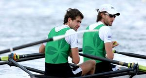Brothers Richard (bow) and Eugene Coakley may face each other other as the former has declared to compete for Australia. Photograph: Morgan Treacy/Inpho.