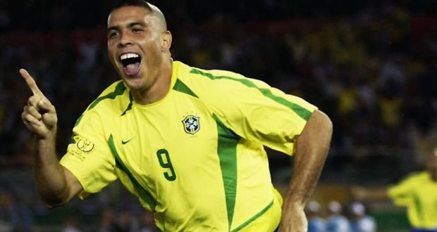 b43555132d4 Star turn  Ronaldo raises a trademark finger in celebration after scoring  against Germany in the