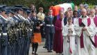 The funeral cortege of Air Corps Cadet David Jevens  at St Alphonsus Church Barntown, Co Wexford, in October 2009. Photograph: Brenda Fitzsimons