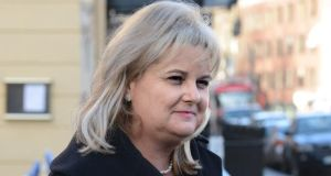 Angela Kerins chief executive of Rehab arriving for the PAC meeting yesterday. Photograph: Cyril Byrne