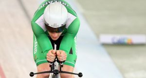 Martyn Irvine of Ireland in action at the 2014 UCI Track Cycling World Championships at the Velodromo Alcides Nieto Patino   in Cali, Colombia. Photograph: Bryn Lennon/Getty Images