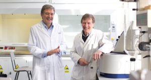Prof Dick FitzGerald (left) and Prof Phil Jakeman: bioactive ingredients in milk can be incorporated into foodstuffs