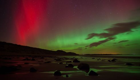 In full colour at Embleton Bay in Northumberland. Photograph: Tom White/PA Wire
