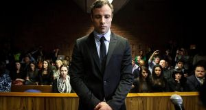On trial: Oscar Pistorius in court last August. Photograph: EPA