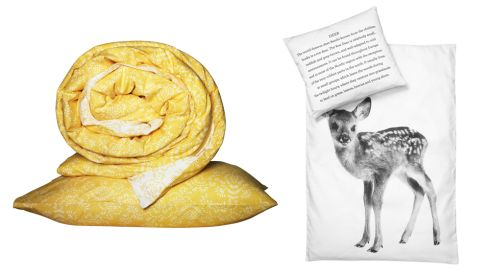Akertistel quilt and 2 pillowcases, 20, Ikea Deer bed linen, €67.82 (p&p inc.), skandivis.co.uk