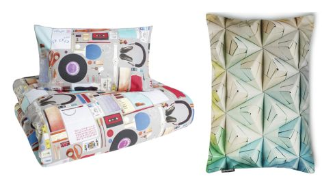 Bed linen, €70, Ben di Lisi at Debenhams Geogami pillow, €49.90, (p&p inc), snurkbeddengoed.nl