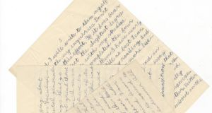 A sample of  Christy Brown's correspondence from 1952