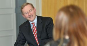 Leader's questions: Enda Kenny gives his answers to Róisín Ingle. Photograph: Alan Betson