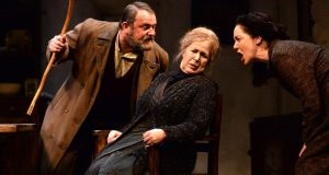 Simon O'Gorman, Bríd Ní Neachtain and Derbhle Crotty in Sive at the Abbey Theatre. Photograph: Cyril Byrne