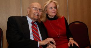 "John Dingell with his wife, Deborah. ""I find serving in the House to be obnoxious,"" he told his local newspaper. ""It's become very hard because of the acrimony and bitterness, both in Congress and in the streets."" Photograph: Reuters/Rebecca Cook"