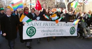 "The St Pat's For All parade. ""St Pat's For All is almost restoring something the Irish were known for – being welcoming,"" said founder Brendan Fay. Photograph: Ed Weidman"