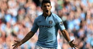 Manchester City's top scorer Sergio Aguero: Dave Thompson/PA Wire
