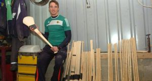 Cork's Aidan Walsh in his hurley-making workshop in Kanturek, Co Cork. Photo: Larry Cummins/Evening Echo
