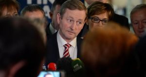 The Taoiseach Enda Kenny at the Fine Gael Ard Fheis, at the RDS Ballsbridge, today. Photograph: Eric Luke/The Irish Times