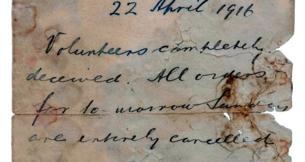 The Countermand Was Issued By Eoin MacNeill Commander Of Irish Volunteers In A