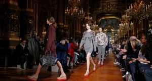 Models present creations by Stella McCartney as part of her autumn-winter 2014-2015 women's ready-to-wear collection show during Paris Fashion Week. Photograph: Benoit Tessier/Reuters