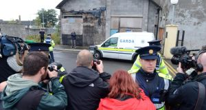 The scene outside Longford Court House last October when a 30-year-old  man was charged with serious sexual assult on two young girls in Athlone. Photograph: Cyril Byrne