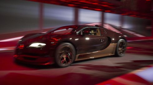 The new Bugatti Rembrandt Veyron Grand Sport Vitesse is presented during the Volkswagen Group preview ahead of the opening day of the 84th International Motor Show in Geneva, Switzerland. Photograph: Harold Cunningham/Getty Images