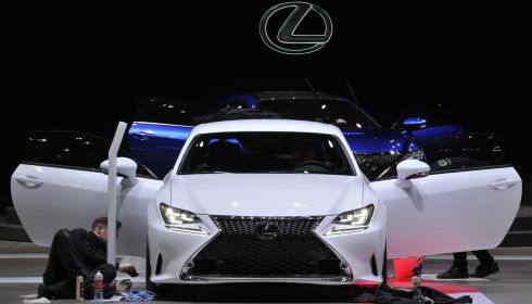 Making a Lexus look even more spiffing. Photograph: Harold Cunningham/Getty Images