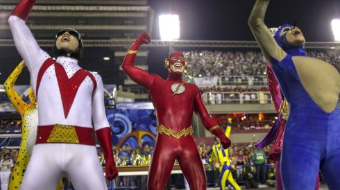 You'd want superpowers of endurance alright for all the high-octane carnivaling. Photograph: Antonio Lacerda/EPA