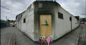 The disused warehouse in Bray where two firemen Brian Murray and Mark O'Shaughnessy died fighting the blaze