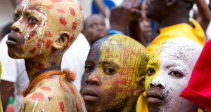 Participants at Carnival in Jacmel, Haiti. Photograph: Dearbhla Glynn