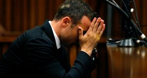 Oscar Pistorius in the dock ahead of his trial today  at the North Gauteng High Court in Pretoria. Photograph: Siphiwe Sibeko/Reuters