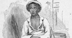 A detail of a woodcutting portrait of Solomon Northup that has been used to illustrate editions of his memoirs, 12 Years a Slave.