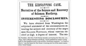 How the story appeared in the New York Times on January 20th, 1853.