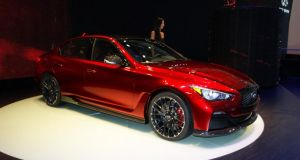 Infiniti wants to take on BMW M and Mercedes AMG with its 568hp Q50 Eau Rouge.