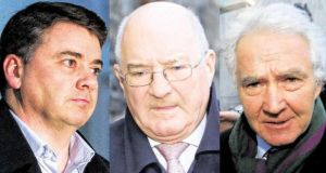 Pat Whelan (51) of Malahide, Co Dublin; William Mc Ateer (63) of Rathgar, Dublin; and Sean Fitzpatrick (65) of Greystones, Co Wicklow have been charged with 16 counts of providing unlawful financial assistance to 16 individuals in July 2008 to buy shares in the bank, contrary to Section 60 of the Companies Act.