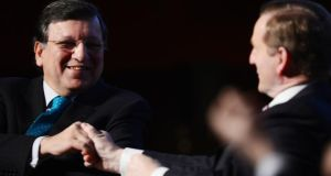 José Manuel Barroso, president of the European Commission with Taoiseach Enda Kenny. Photo: Alan Betson/The Irish Times