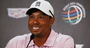 Tiger Woods says he is ready to defend his   Cadillac Championship at  Doral after receiving treatment for a back injury. Photograph:   Scott Halleran/Getty Images