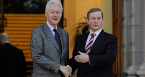 """Oh, yes"" Enda will tell them. ""The only Bill I passed this week was Bill Clinton!"" Photograph: Clodagh Kilcoyne"