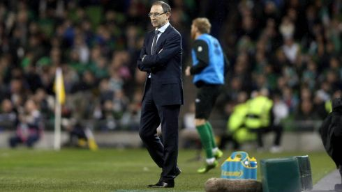Long's goal left Republic of Ireland manager Martin O'Neill content if not overjoyed. Photograph: Inpho/Donall Farmer
