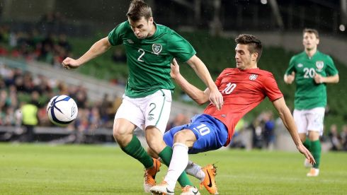 Seamus Coleman was one of many Ireland players to enjoy a first half in which they possibly should have increased their lead. Photograph: Photograph: Inpho/Cathal Noonan