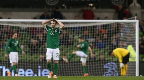 The Irish players suffer the first defeat of Martin O'Neill's reign.