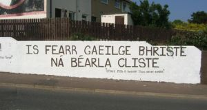 """Broken Irish is better than clever English"""