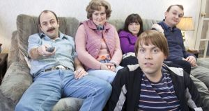 Modern family: Niall Gaffney, Philippa Dunne, Amy Stephenson, Rory Connolly and Shane Langan in 'The Walshes'