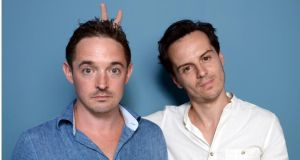 "Andrew Scott (right) with Stag co-star Hugh O'Conor: ""Comedy is hard. Most acting is about ambiguity. Comedy has no room for ambiguity. It's making 700 people in a cinema laugh"""