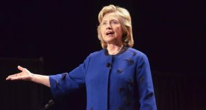 Potential presidential candidate Hillary Clinton: clarified her remarks