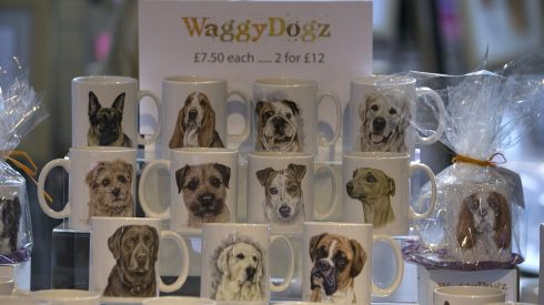 Dog merch for sale at the show. Photograph: Matt Cardy/Getty Images