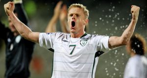 Damien Duff. Photograph: James Crombie/Inpho.
