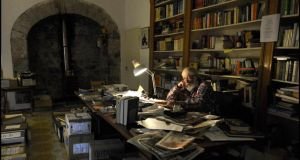 JP Donleavy photographed in the library at his home, Levington Park near Mullingar. Photographs: Brenda Fitzsimons