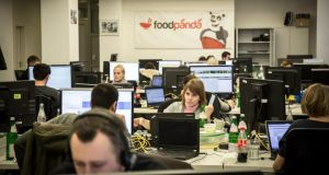 Foodpanda's office, an online takeout delivery service for restaurants that mirrors the popular American company GrubHub, in Berlin. International companies like Rocket Internet, which funds e-commerce start-ups that mimic proven business models, are operating in sharp contrast to Silicon Valley, where originality is prized