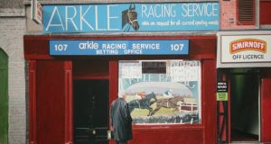 Arkle Racing, Marlborough Street, Dublin by John Doherty will go under the hammer in de Veres' art auction in Dublin, €25,000-€35,000