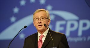 Jean-Claude Juncker, EPP candidate for president of EU Commission.  Photograph: Alan Betson/The Irish Times