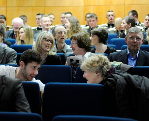 Pictured are members of the audience at the Irish Times Debate Final 2014 which took took place at the Law Society, Blackhall Place on February 28th. Speakers from various institutions spoke on the motion: This  House believes the Irish political system has served the people well. Photograph: Dave Meehan