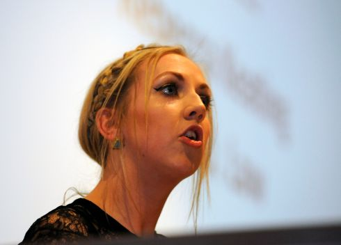Rebecca Keating, Trinity College, who spoke for the motion. Photograph: Dave Meehan