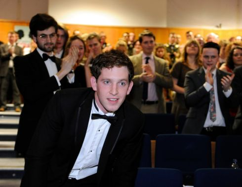 William Courtney, UCD Medical School, at the announcement that he was the overall winner. Photograph: Dave Meehan